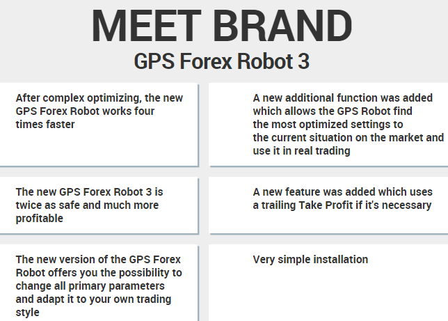 GPS Forex robot 3 features