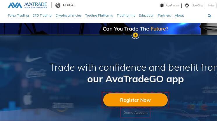 AvaTrade Forex Broker website