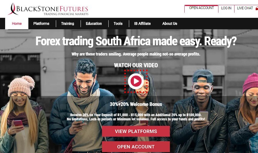 Blackstone futures_South african trading website