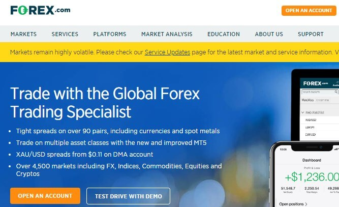 Forex com broker